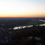 Panorama Aussicht Dresdens von der Schwebebahn im Oktober 2017