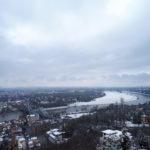 Dresden Schwebebahn Panorama mit Blauen Wunder