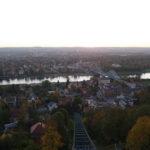 Panorama Aussicht von der Dresdner Schwebebahn