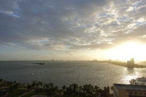 Ausblick auf Miami South Beach früh