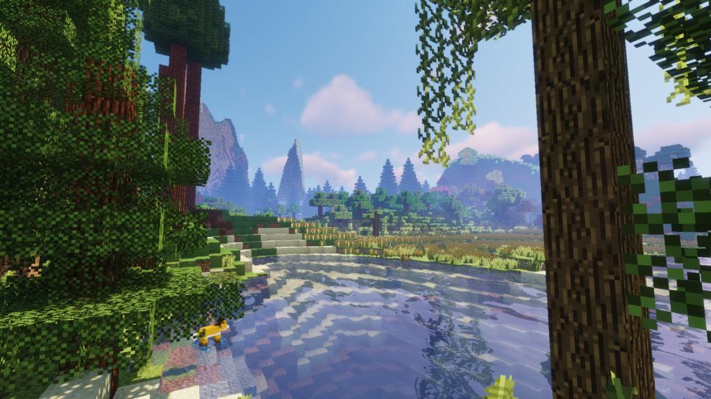 MeinCroft Screenshot mit schöner Landschaft
